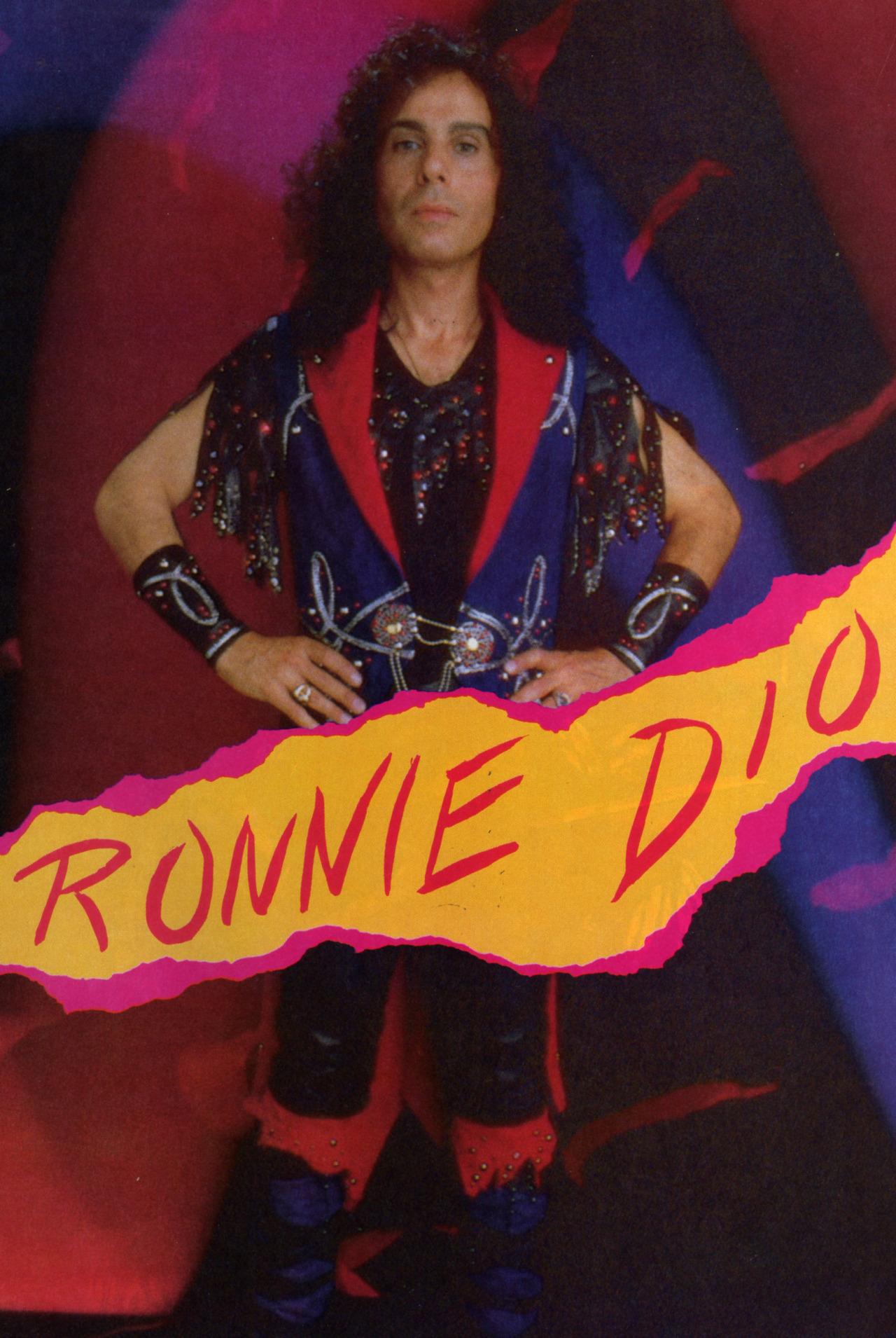 "RONNIE JAMES DIO explique la pochette de ""Holy Diver"" ... Dio1110"