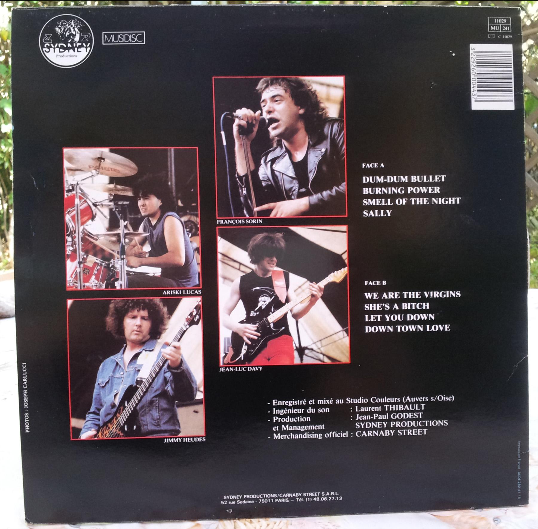 DUM DUM BULLET 1er album (1986) 33 tours - le vinyle vu de plus près ...   Dum_du12