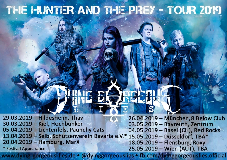 DYING GORGEOUS LIES The Hunter and the Prey (2019) Thrash Allemagne  Dying_11