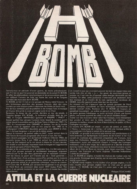 """H-BOMB """"Attila et la guerre nucléaire"""" ENFER Mag n°5 Septembre 1983 (Archive à lire)  Enfer_13"""