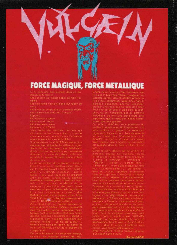 VULCAIN Force magique, Force métallique (ENFER Mag n°4 bis) Archive Enfer_16