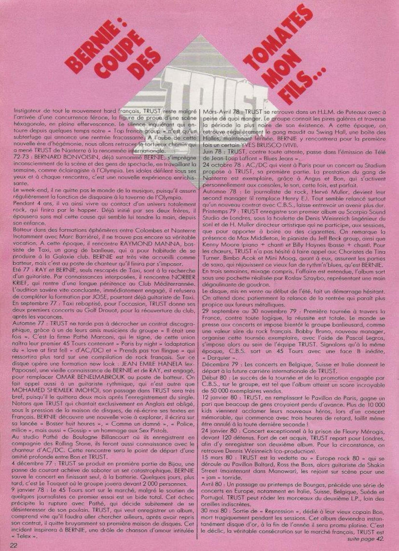 TRUST : Bernie coupe des tomates mon fils ... ENFER Mag n°4 bis (Archive) Enfer_19