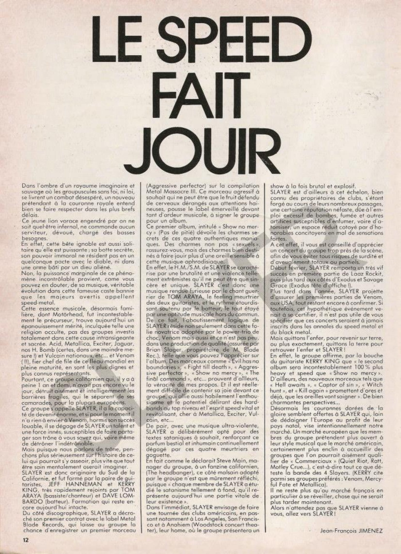 SLAYER : le speed qui fait jouir (ENFER MAG n°10 Février 1984) Archive à lire Enfer_23