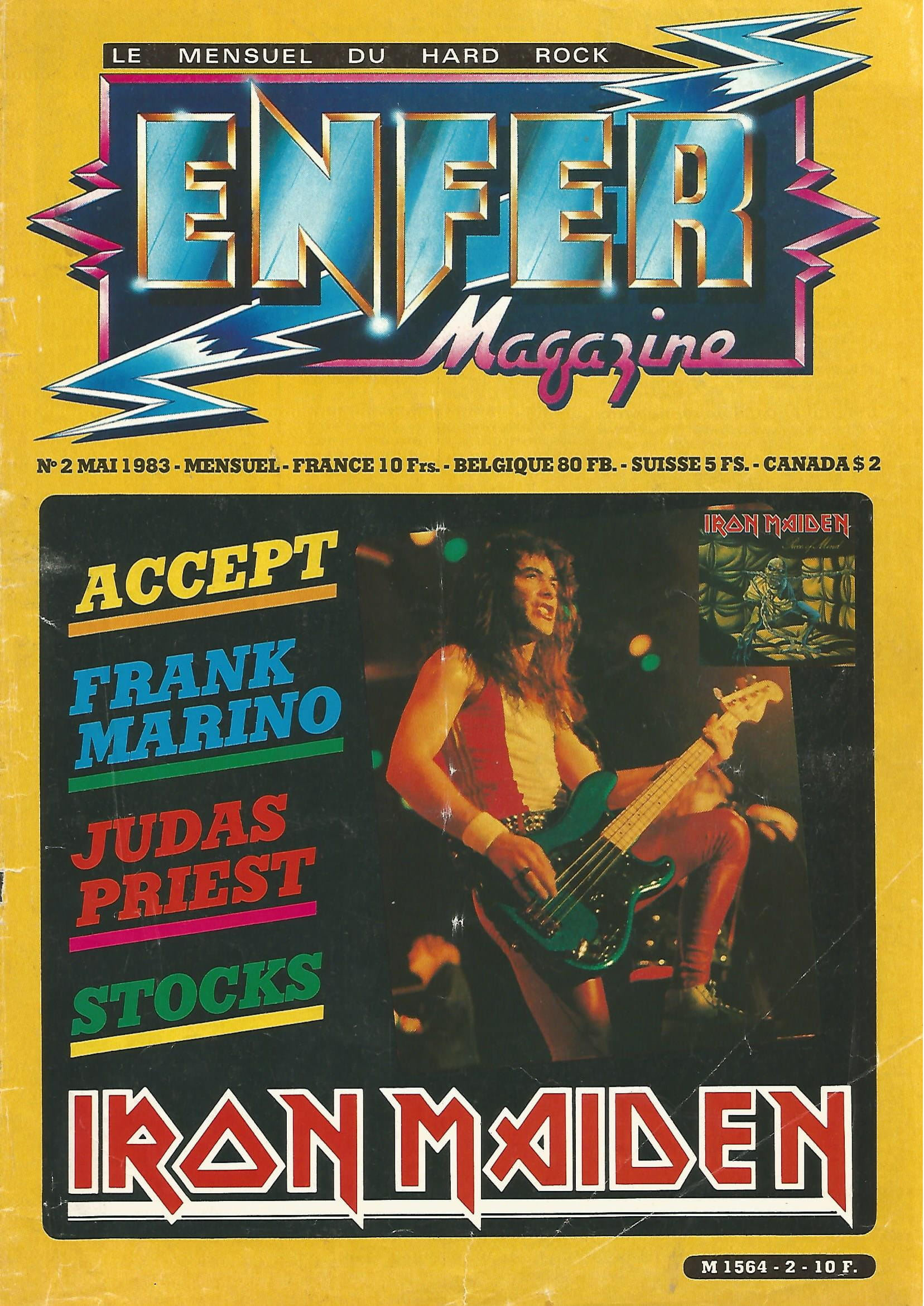 IRON MAIDEN - Enfer Mag n°2 Mai 83 (Archive à lire) Enfer_25