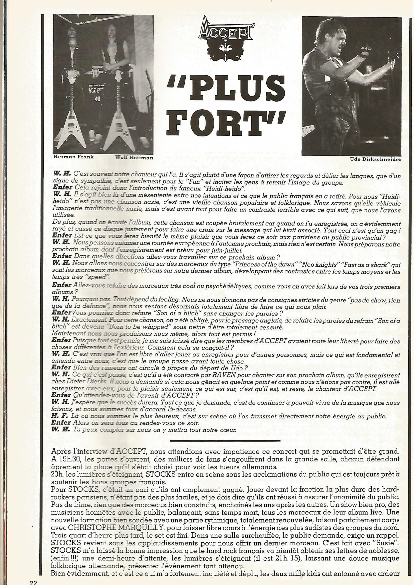Interview ACCEPT dans ENFER MAG n°2 MAI 1983 (archive) Enfer_30