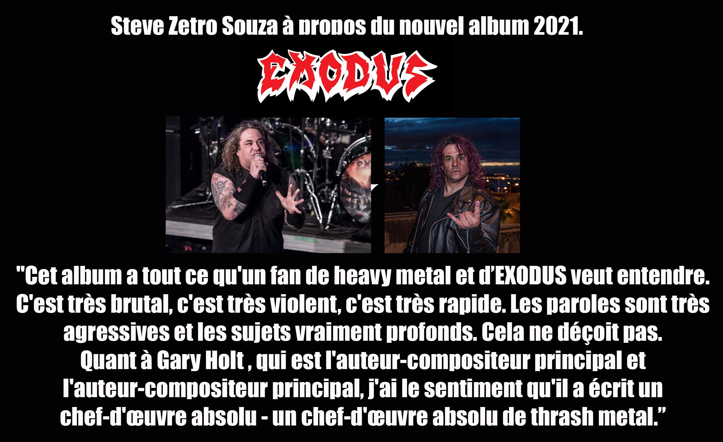 """Le nouvel album d'EXODUS portera le titre de : """"Persona Non Grata"""" ! Exodus12"""