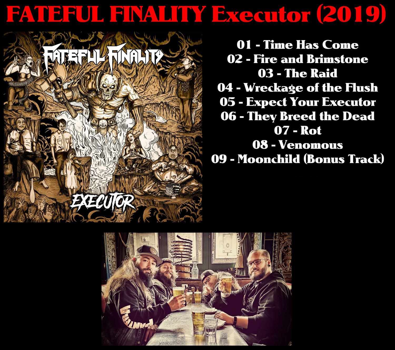 FATEFUL FINALITY Executor (2019) Thrash Allemagne Fatefu11