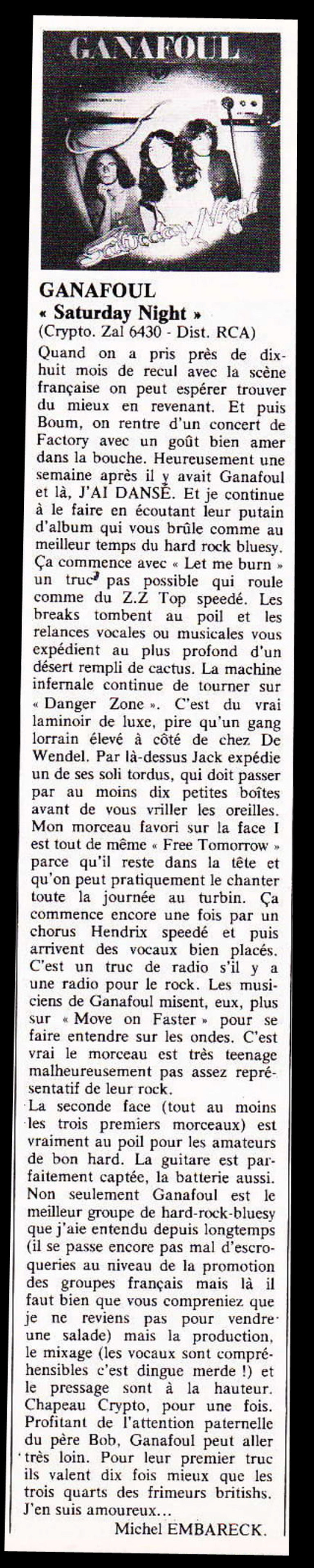 Une vieille chronique d'album de GANAFOUL ... BEST N°113 Décembre 1977 Ganafo10