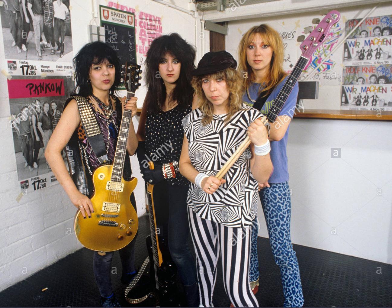 GIRLSCHOOL à Orléans le jeudi 18 décembre 1986 à La salle du Baron (Coupures de journaux)  Girlsc11