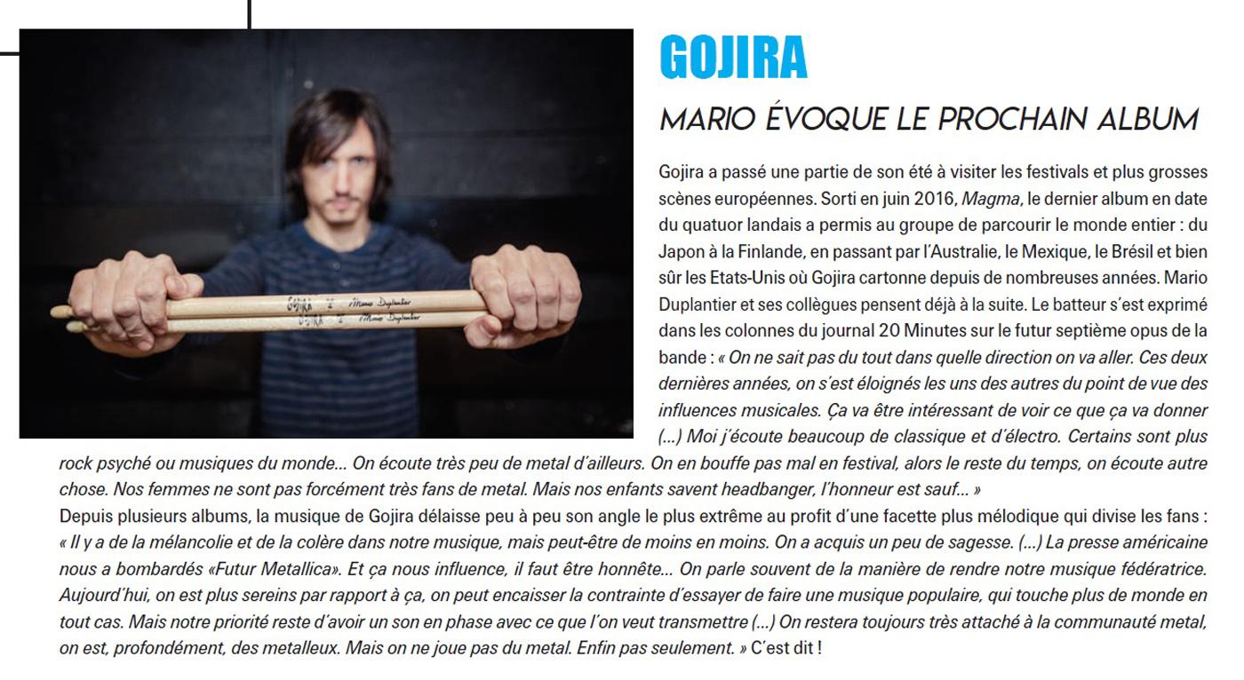 GOJIRA (Batterie Magazine Septembre/octobre 2018) Archive Gojira10