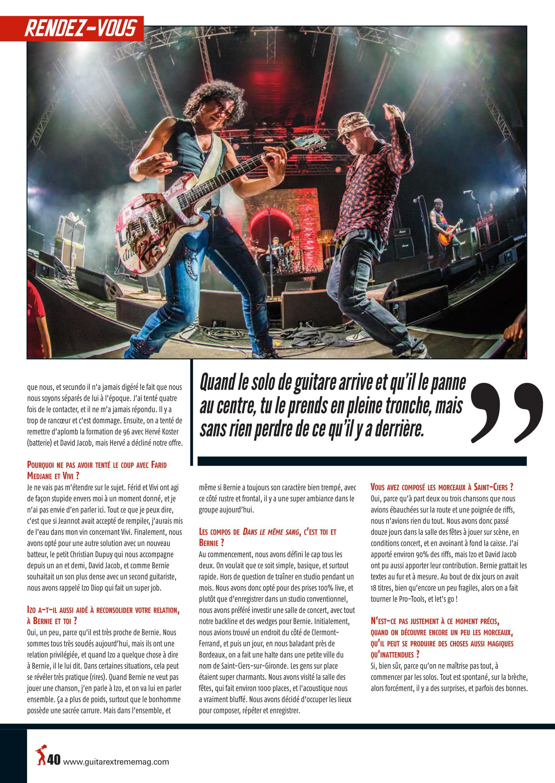 NORBERT KRIEF (Trust) Interview sur Guitar XTREM 87 (archive) Guitar13