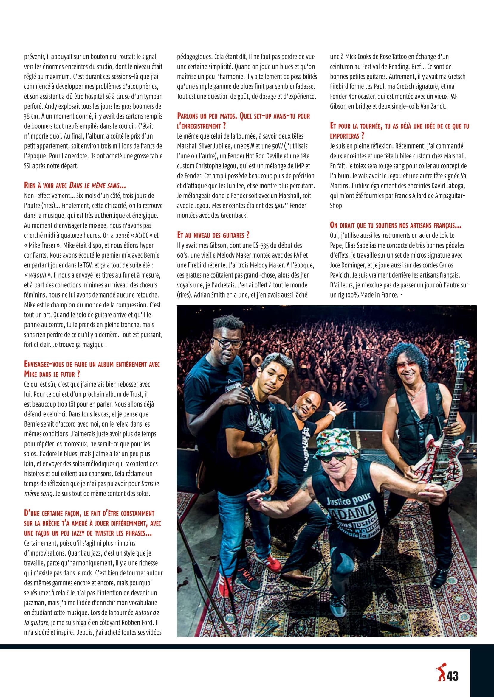 NORBERT KRIEF (Trust) Interview sur Guitar XTREM 87 (archive) Guitar14