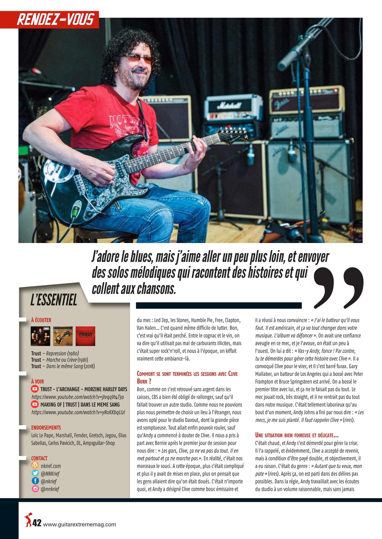 NORBERT KRIEF (Trust) Interview sur Guitar XTREM 87 (archive) Guitar16