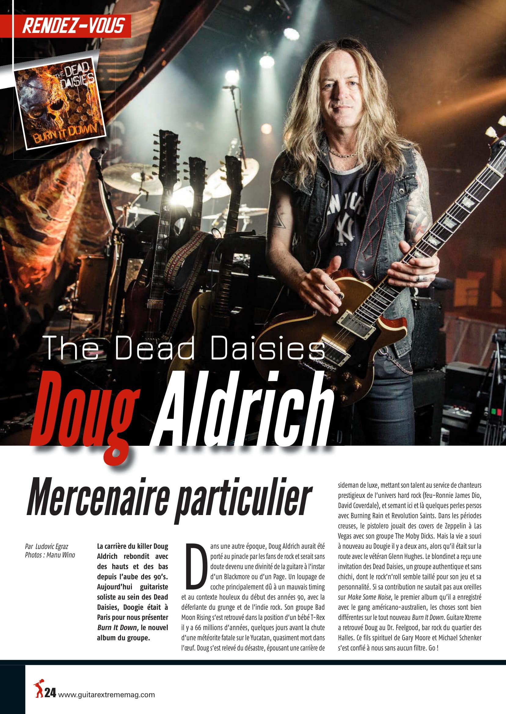 Interview DOUG ALDRICH dans Guitar EXTREM 87 Juillet/Août 2018 (archive) Guitar17