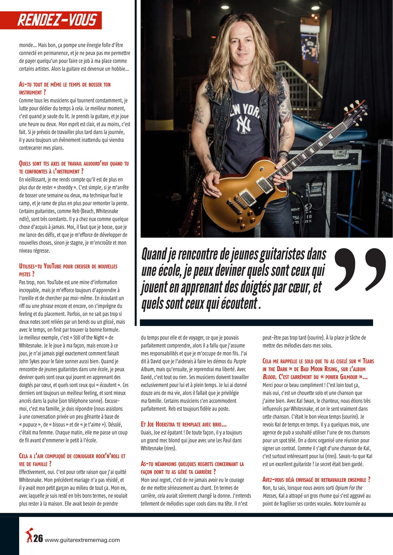 Interview DOUG ALDRICH dans Guitar EXTREM 87 Juillet/Août 2018 (archive) Guitar19