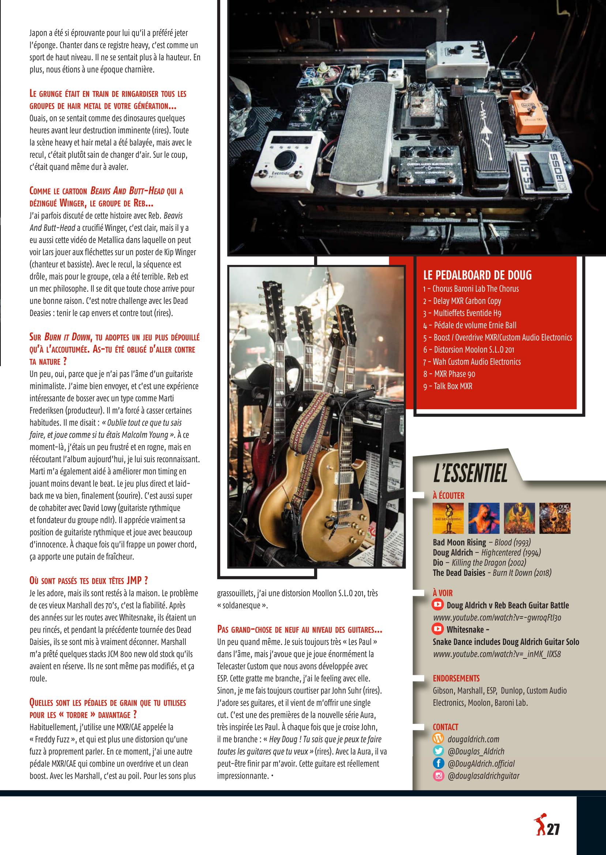 Interview DOUG ALDRICH dans Guitar EXTREM 87 Juillet/Août 2018 (archive) Guitar20
