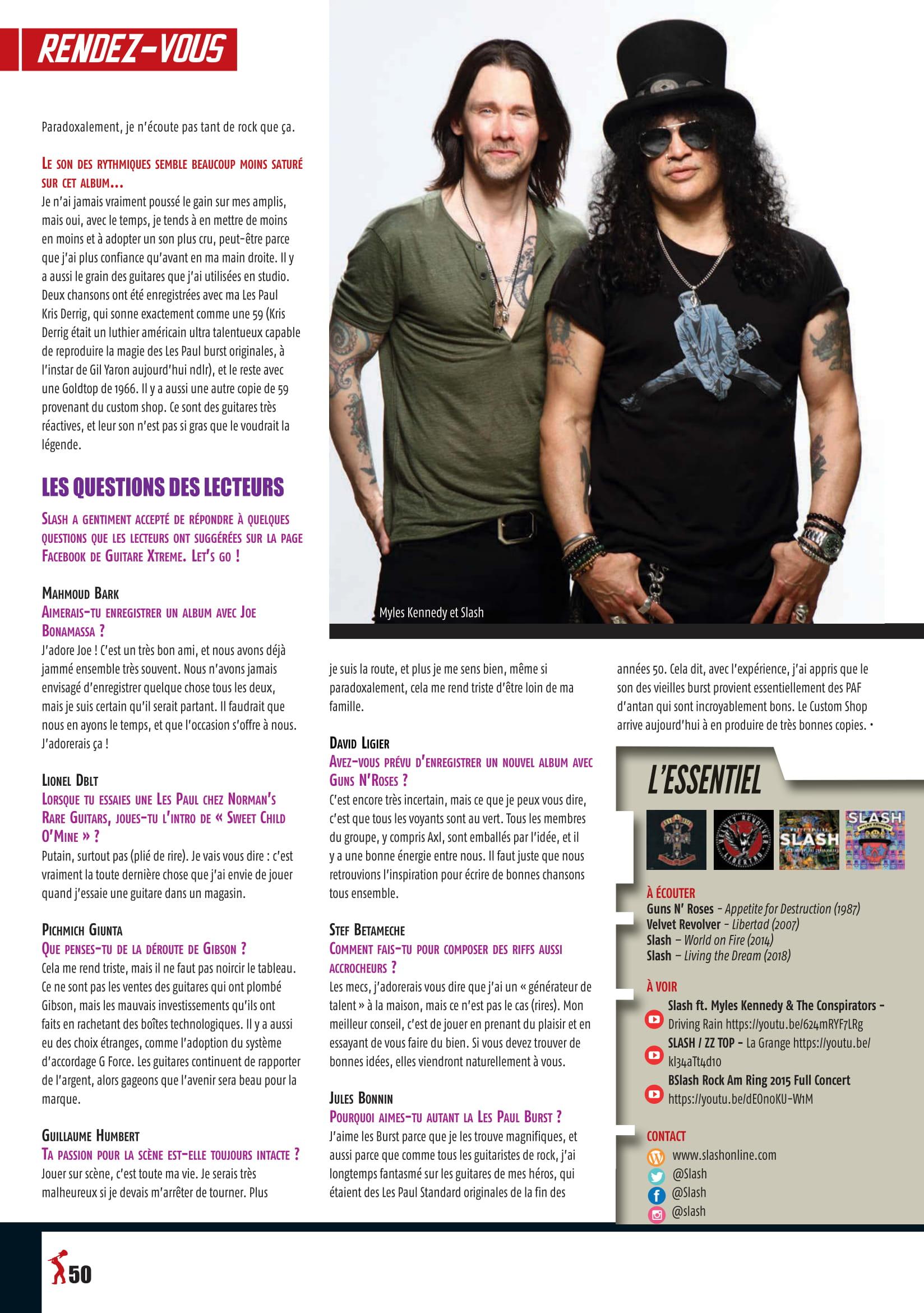 Interview SLASH dans GUITARE EXTREM N°89 (archive à lire) Guitar22