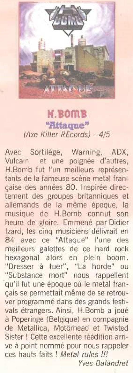 SORTILEGE et H-BOMB Chronique dans ROCK STYLE n°23 Janvier 1998 (Archive à lire) H_bomb10