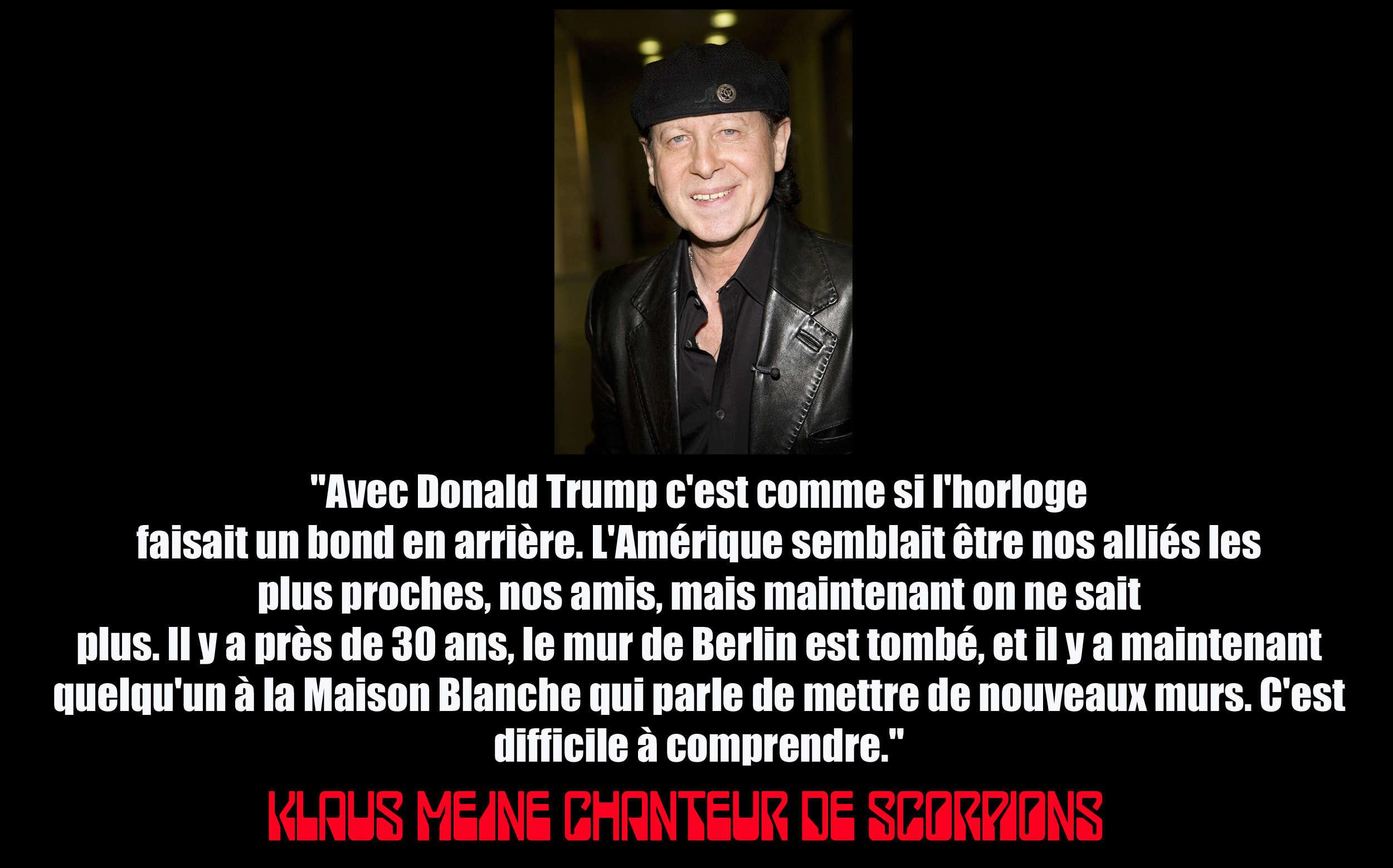 KLAUS MEINE (Scorpions) a dit ... du président américain. Klaus_10