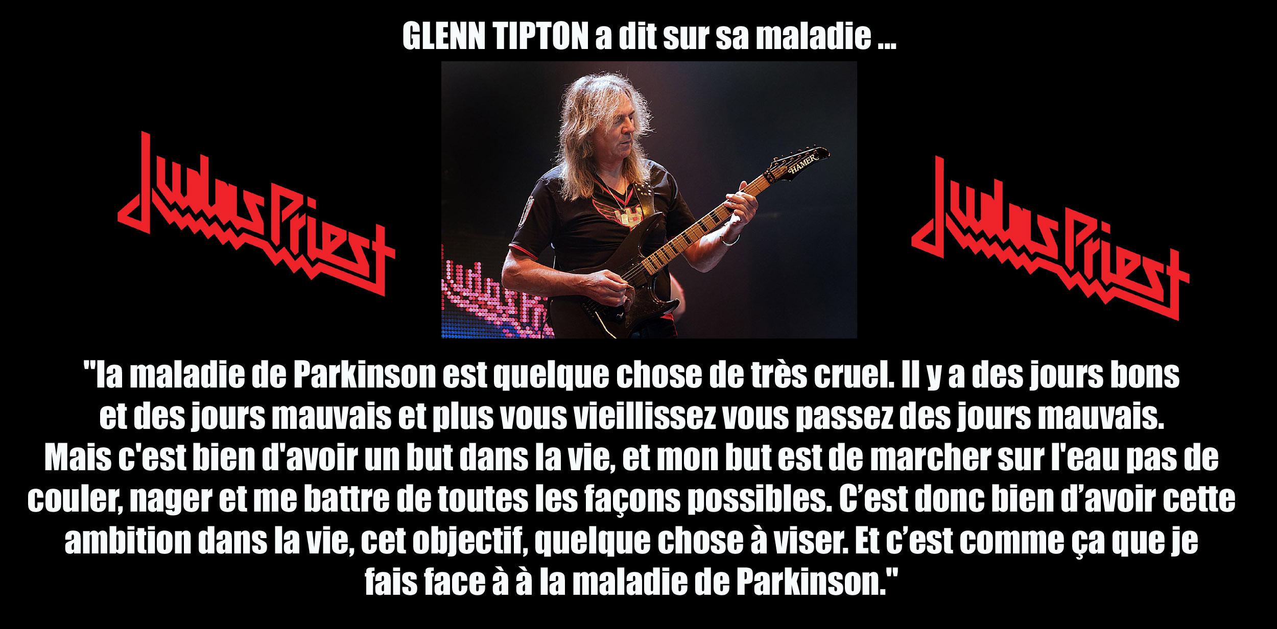 GLENN TIPTON a dit ... sur sa maladie de Parkinson  Korn13