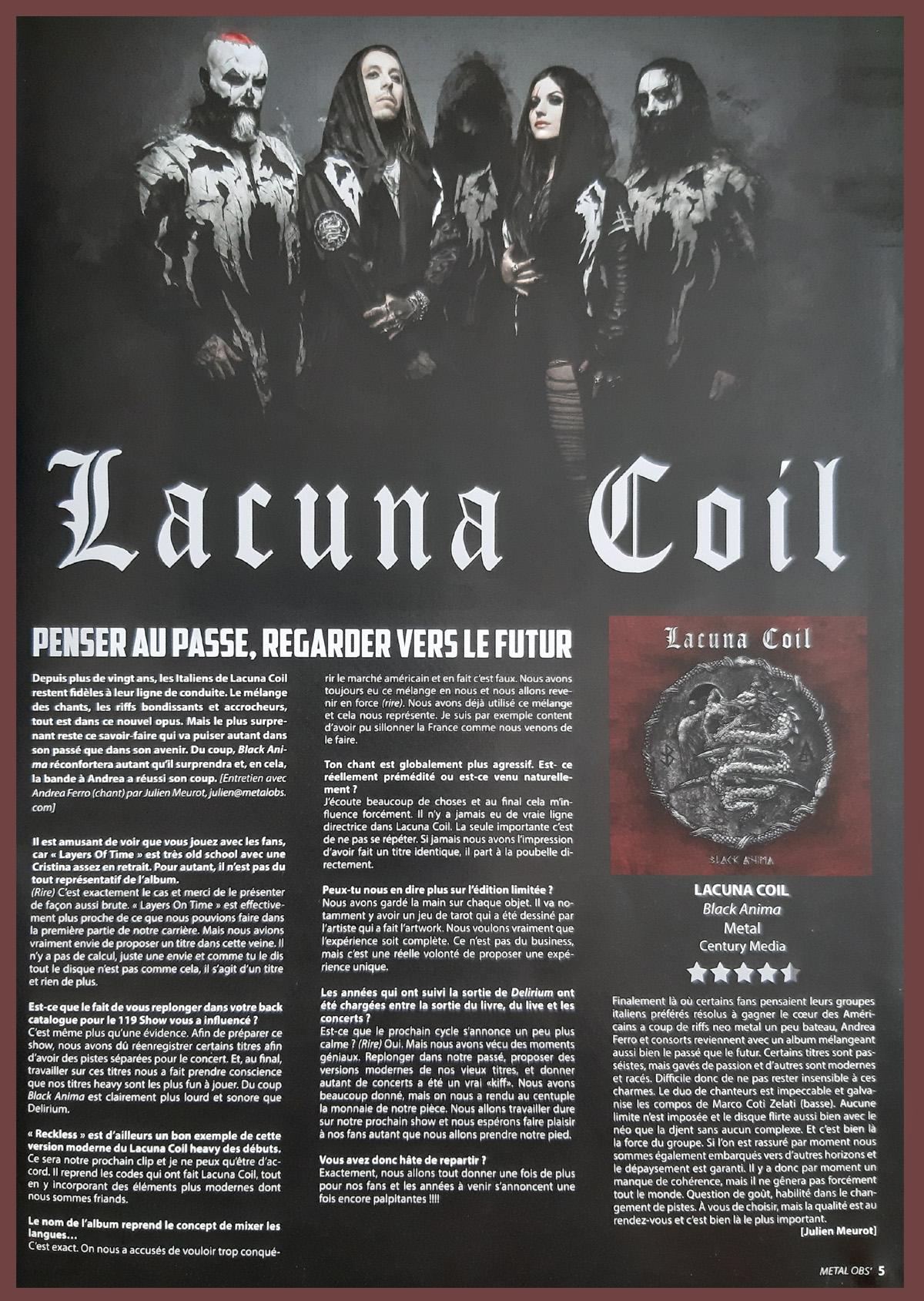 LACUNA COIL Black Anima (2019) Metal Symphonic Italie Lacuna16