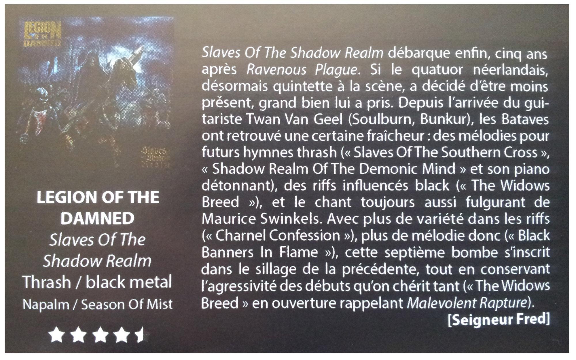 LEGION OF THE DAMNED annonce le nouvel album ... Legion11