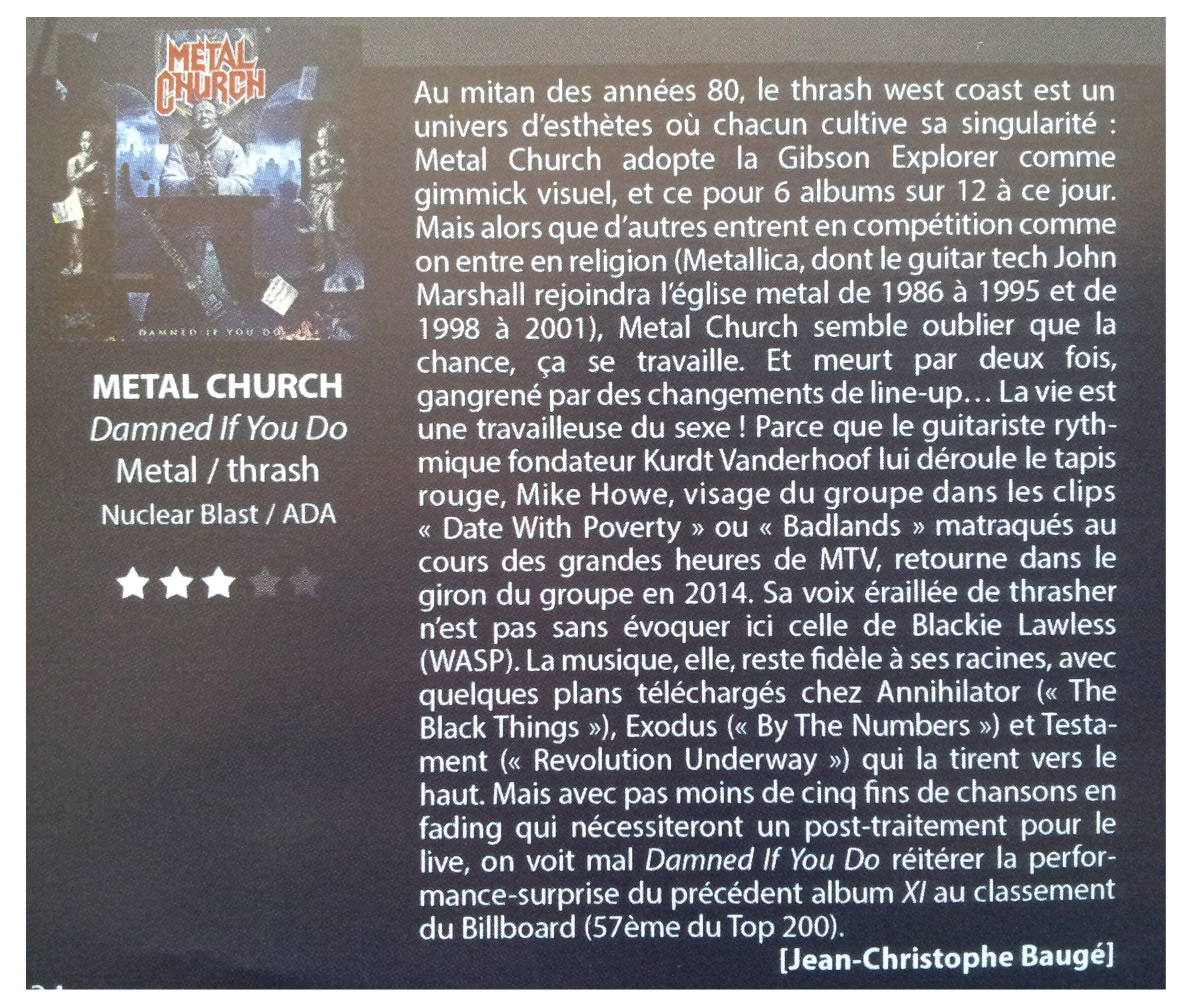 METAL CHURCH Damned If You Do (2018) Heavy/Speed USA Legion18
