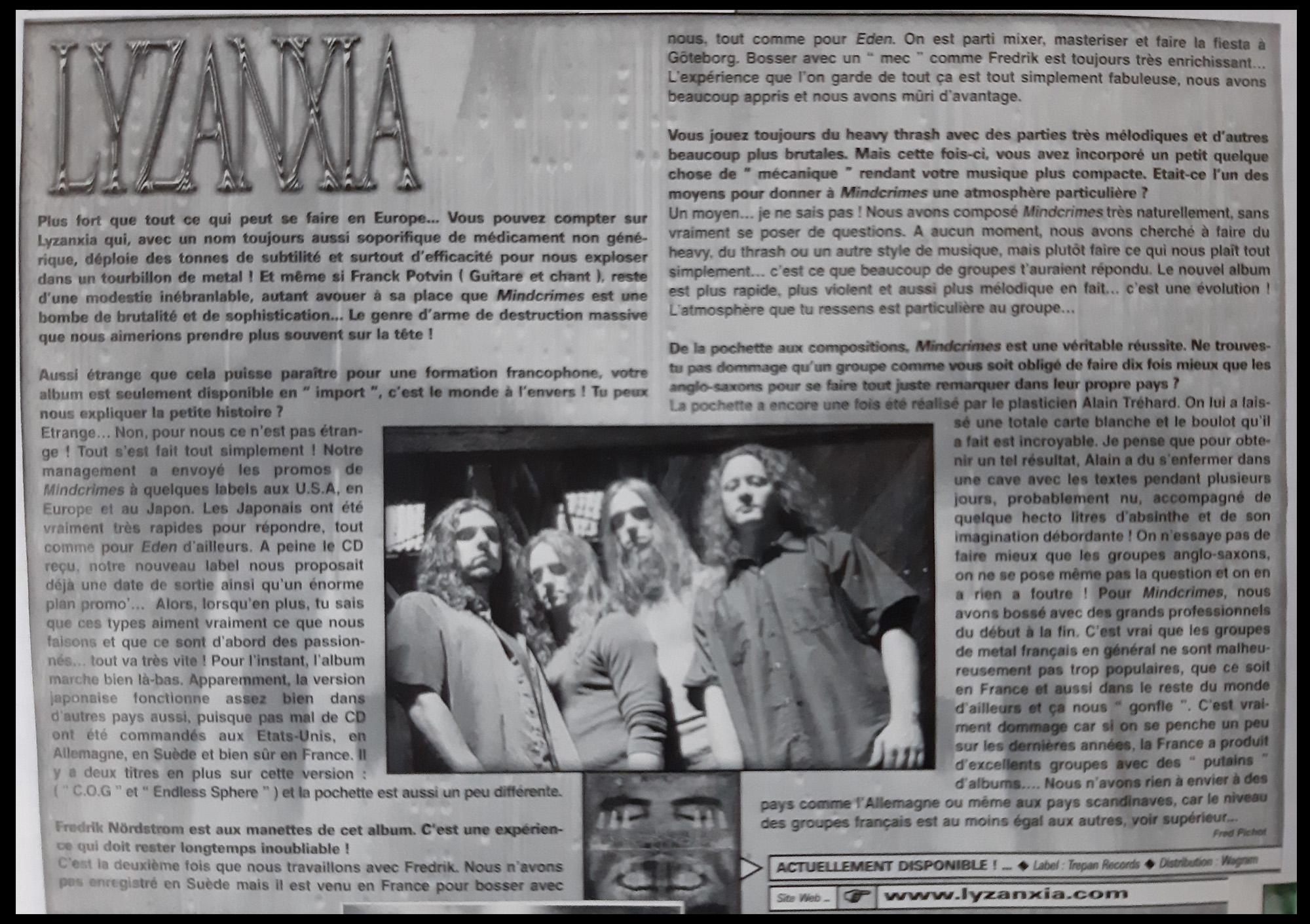 Interview LYZANXIA (archive à lire) ... Lyzanx11