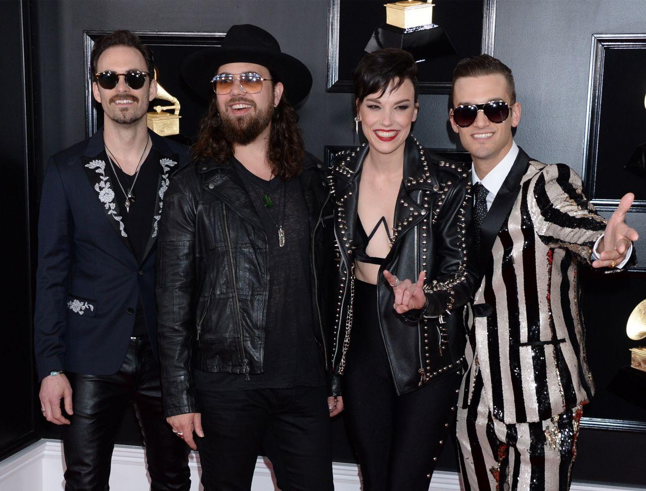 Lzzy Hale (Halestorm) - 61ème édition des Grammy Awards à Los Angeles le 02/10/2019 Lzzy-h10