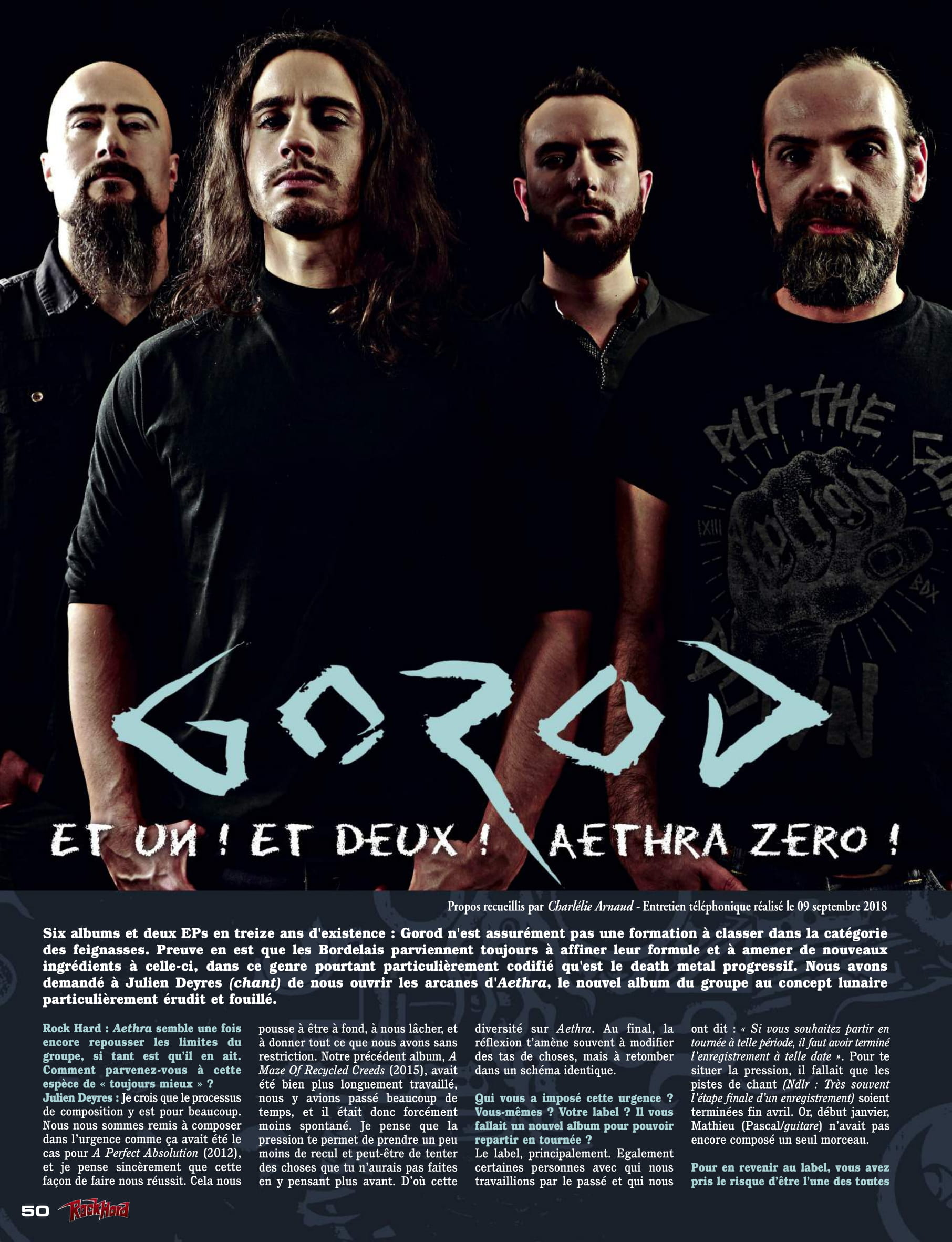 Interview GOROD sur Rock Hard Octobre 2018 (Archive) Magazi18
