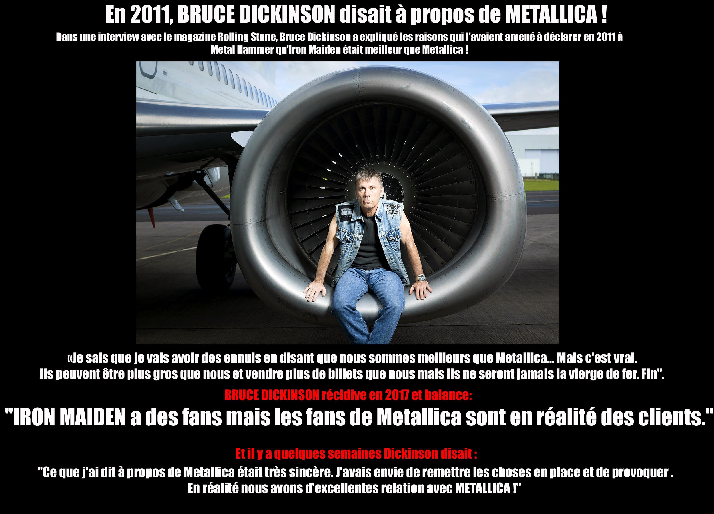 BRUCE DICKINSON a dit sur ... METALLICA  Maiden12