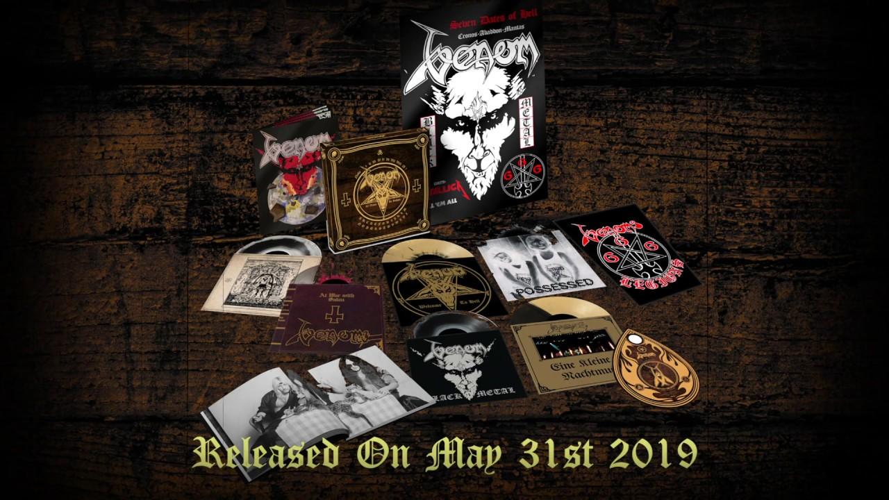 Coffret en vinyle de luxe : VENOM In Nomine Satanas (2019) 40ème anniversaire ! Maxres24