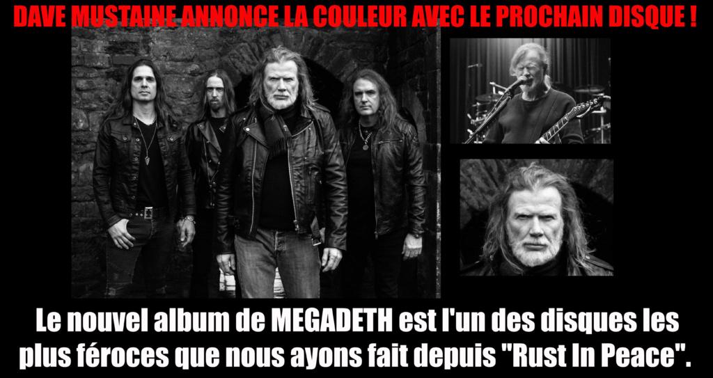Megadeth : L'enregistrement du nouvel album a officiellement commencé Megade18