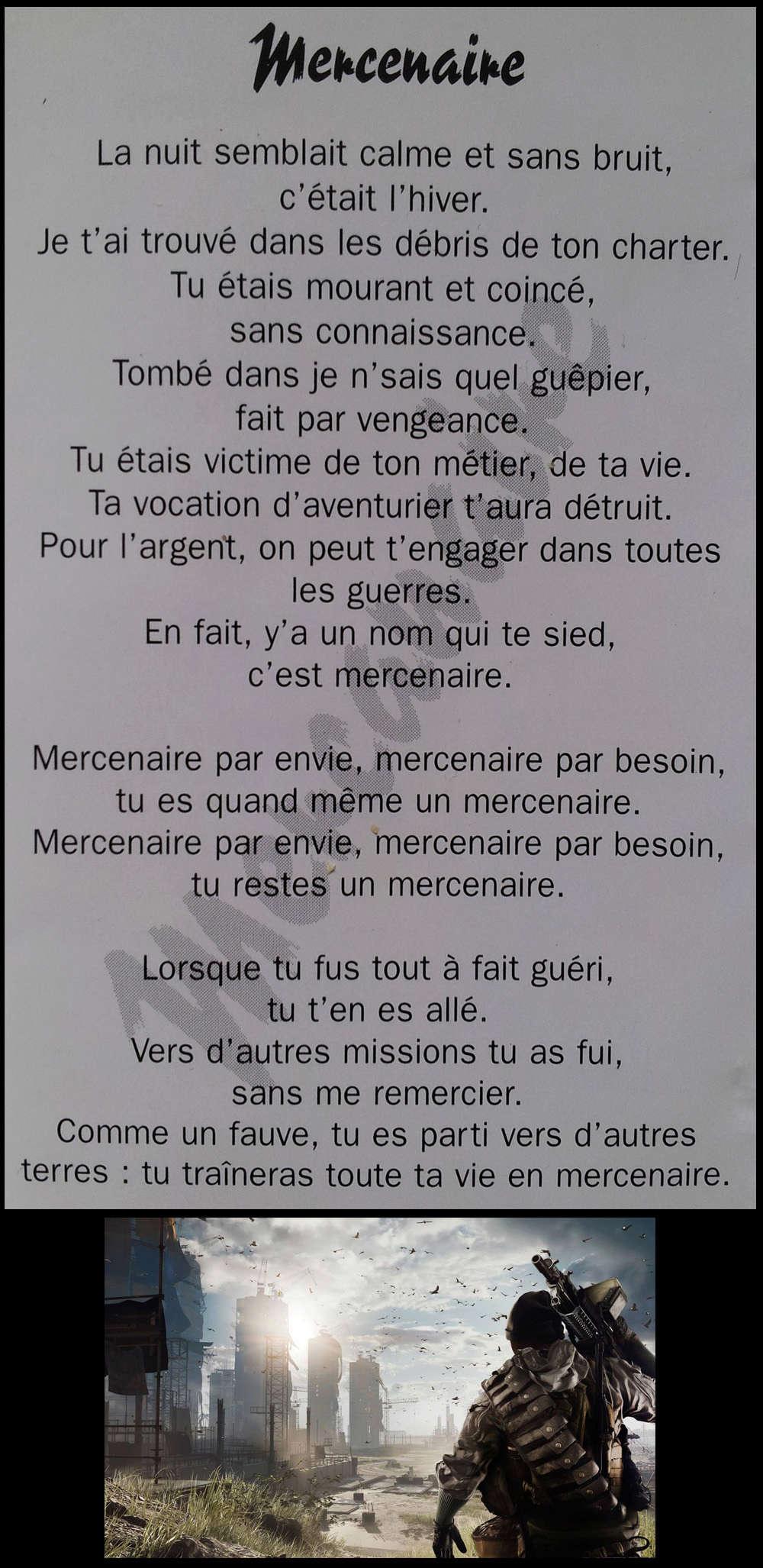 KILLERS Mercennaire (paroles) Mercen10