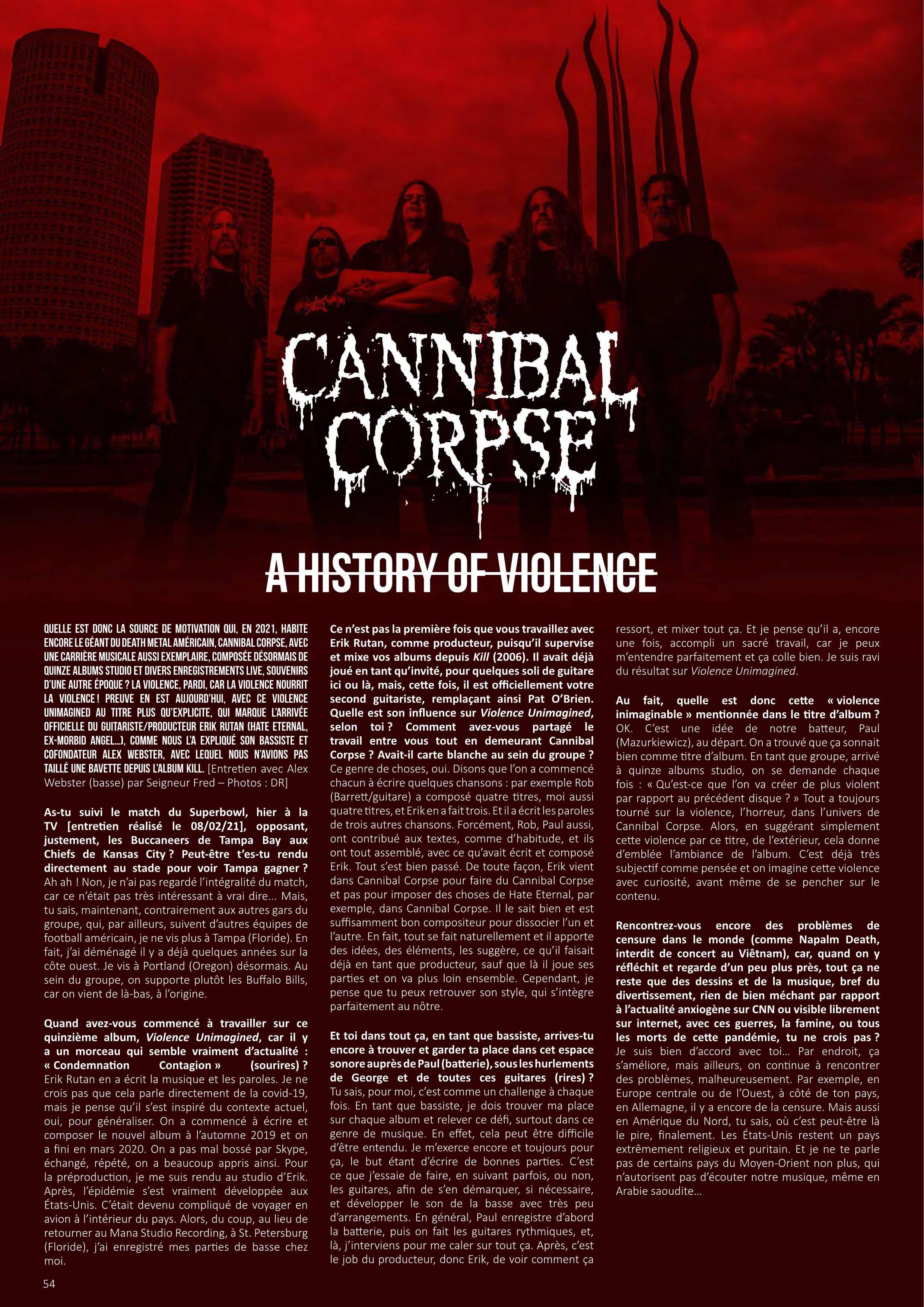"CANNIBAL CORPSE (Death Metal / USA) - ""Violence Unimagined"" en pré-commande Metal-24"
