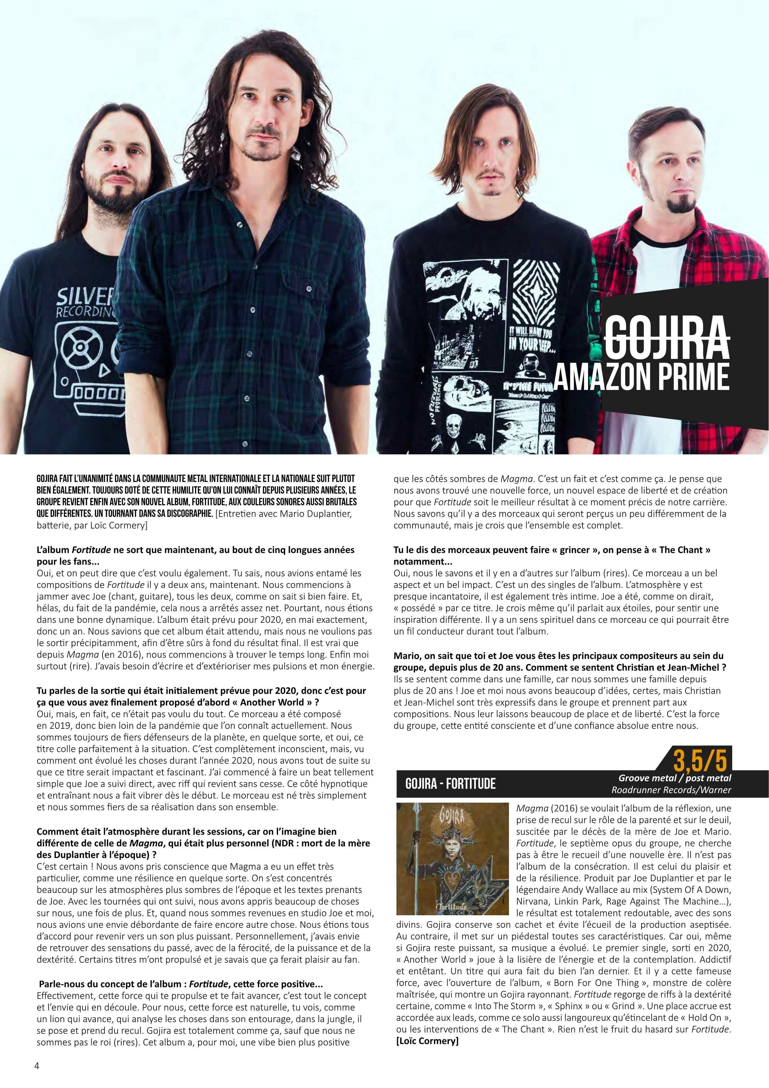 "GOJIRA ""fortitude"" avril 2021 Metal-26"