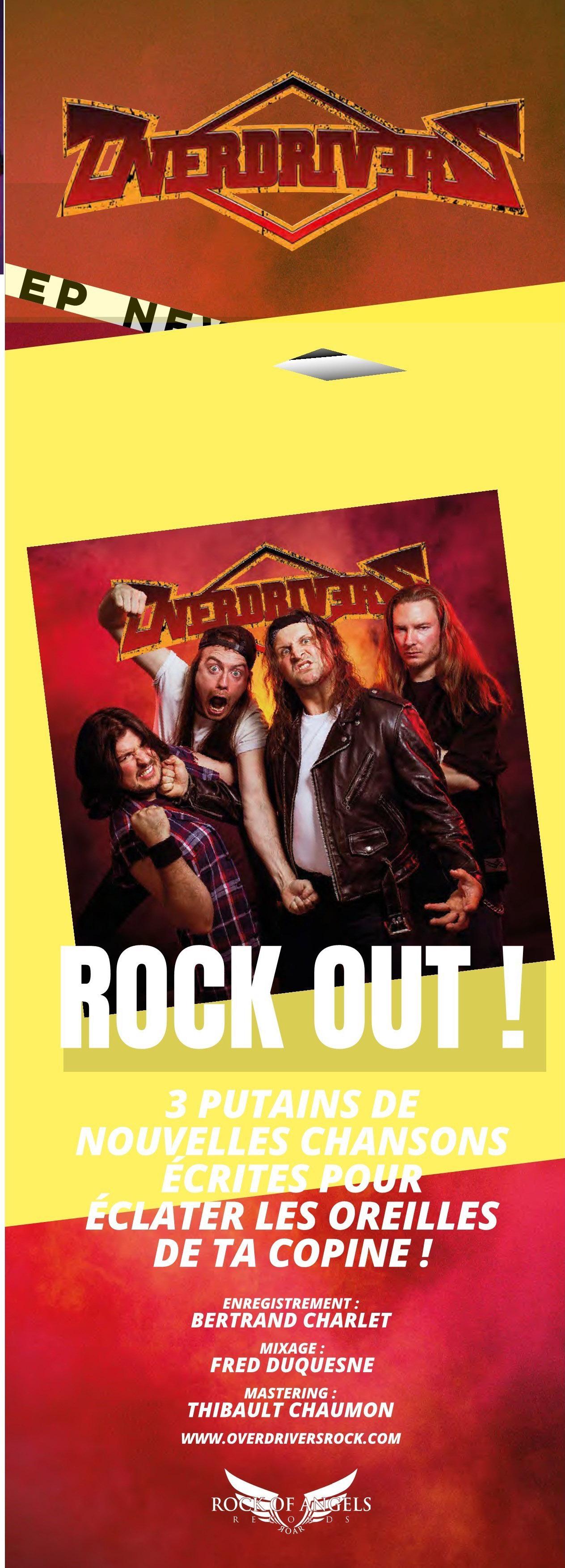 """OVERDRIVERS (Hard Rock) - un nouvel EP, intitulé """"Rock Out!"""", le 9 Juillet 2021 Metal-29"""