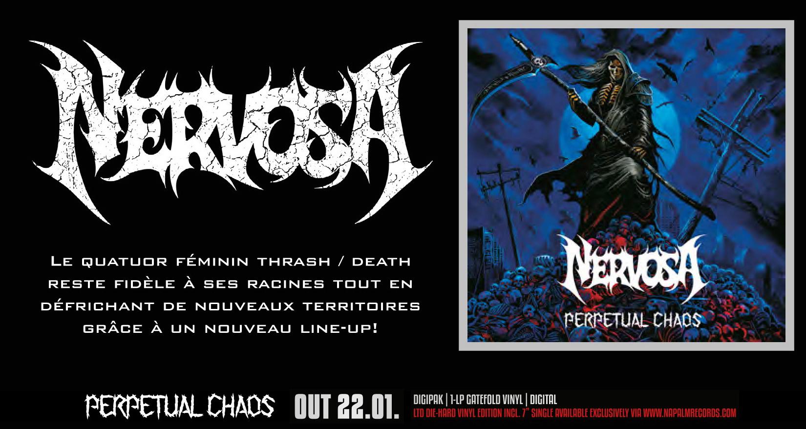 NERVOSA Perpetual Chaos (2021) Thrash Metal Brésil Metal_12
