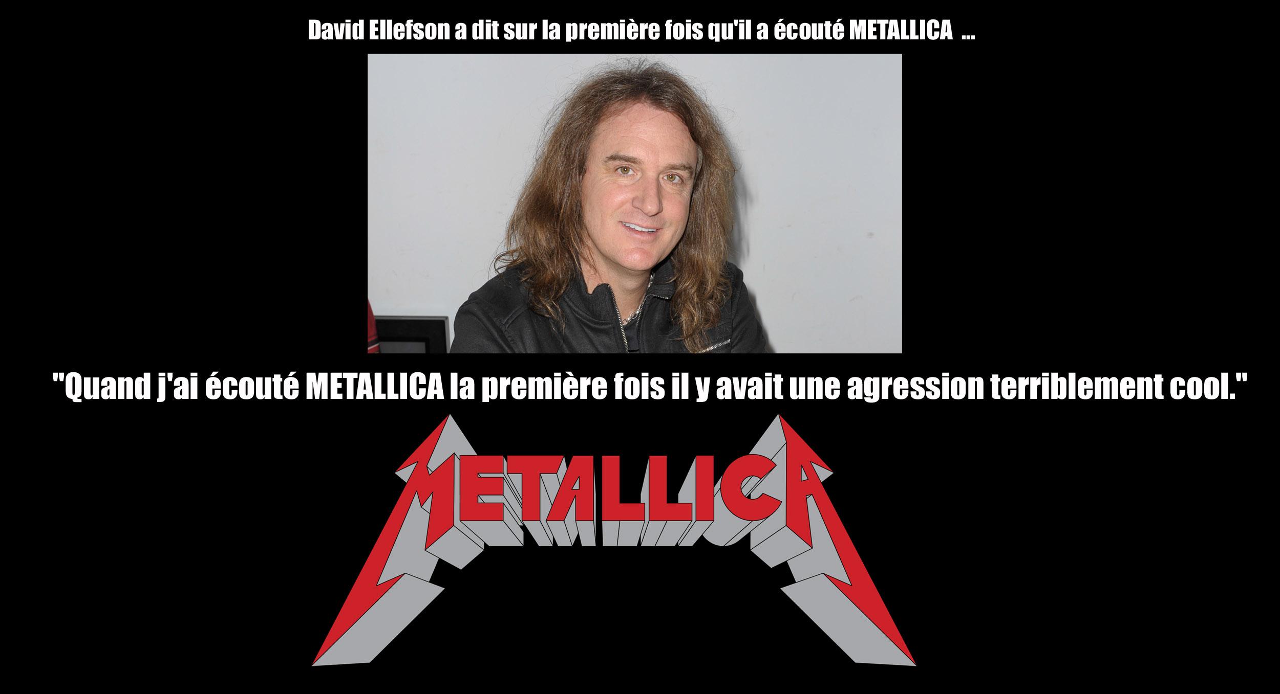 David Ellefson a dit sur la première fois qu'il a écouté METALLICA  ... Metall12
