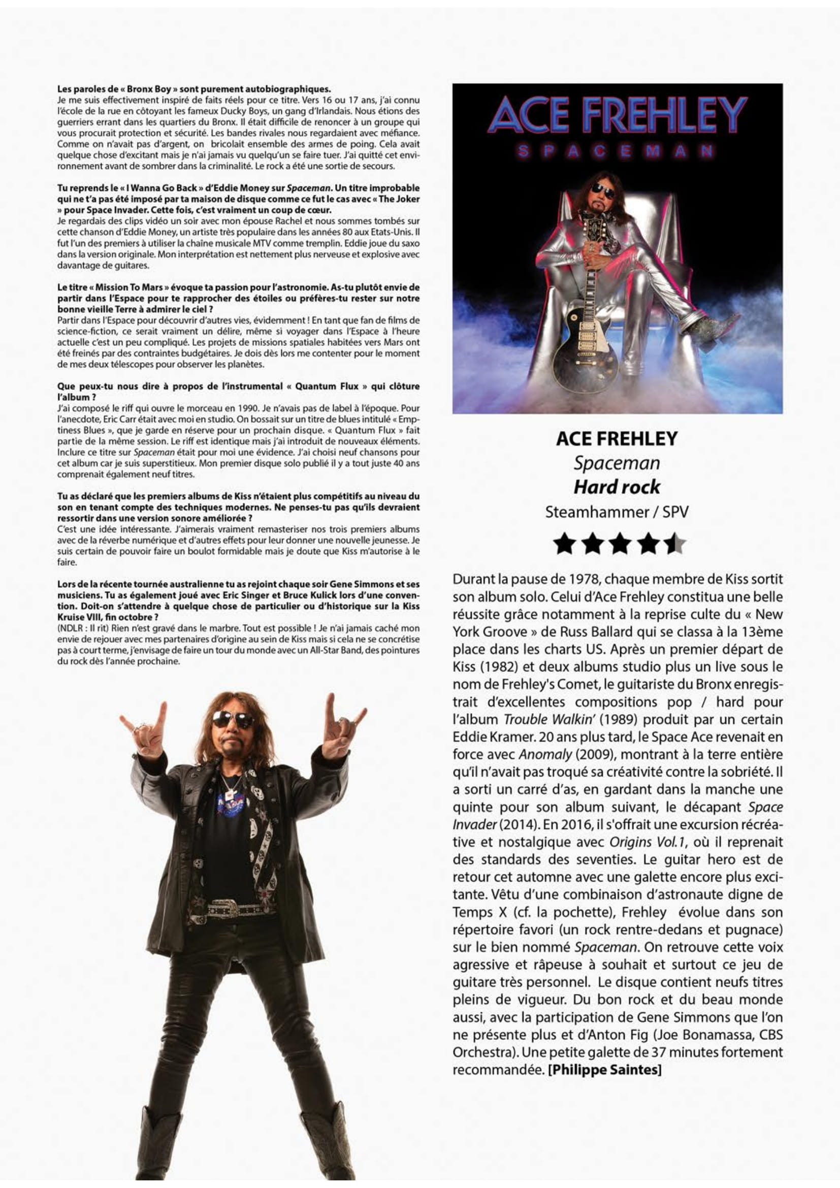 ACE FREHLEY Spaceman (2018) Hard-Rock  Metalo13
