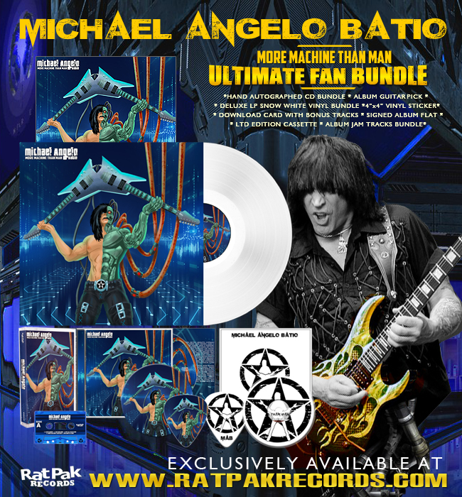 MICHAEL ANGELO BATIO More Machine Than Man (2020) Heavy Metal U.S.A Michae12