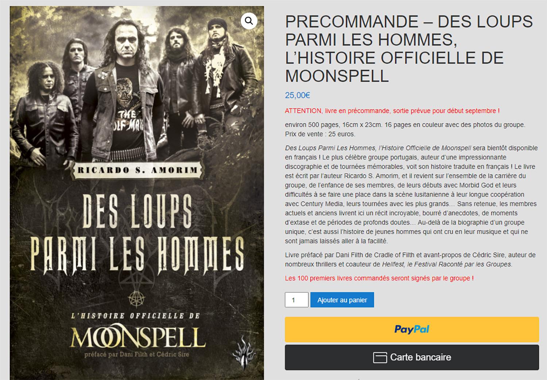 MOONSPELL Des loups parmi les hommes (Editions des Flammes Noires ) Septembre 2021 Moonsp11