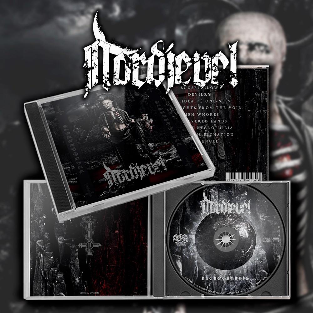 NORDJEVEL Necrogenesis (2019) Black Metal Norvège Nordje10