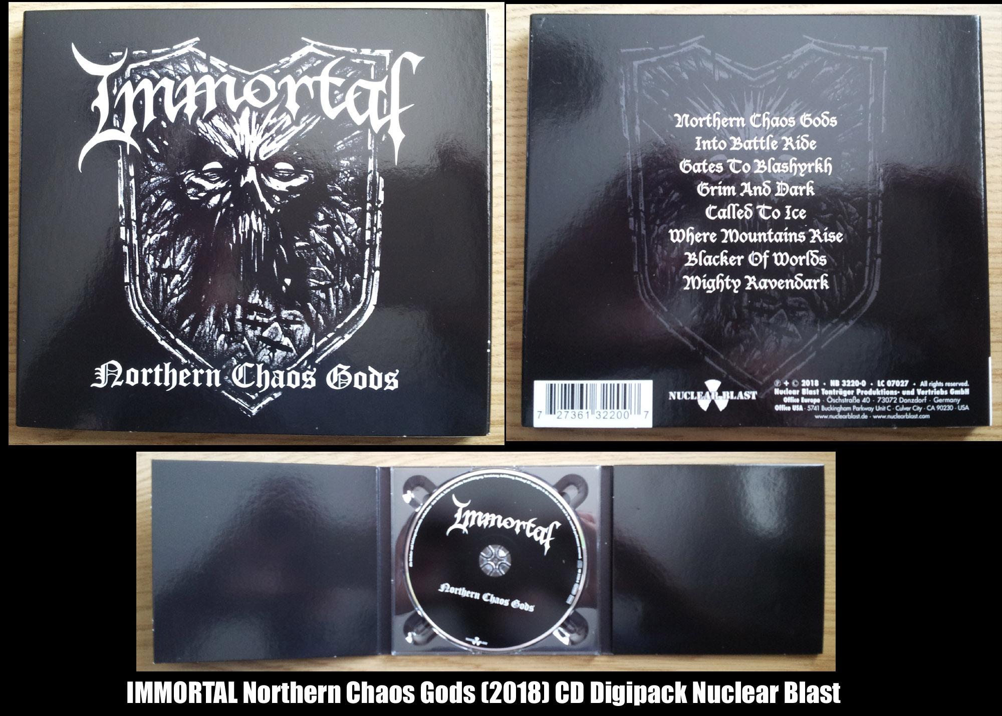 IMMORTAL Northern Chaos Gods (2018) Black Metal Norvège Northe10
