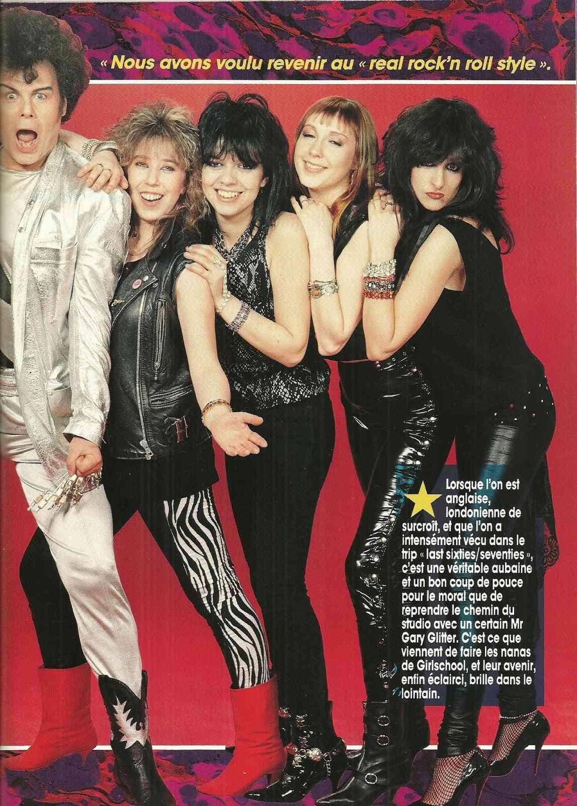 GIRLSCHOOL C'est la rentrée ... (HARD ROCK Magazine Juillet/Août 1996) Archive à lire Numyri53
