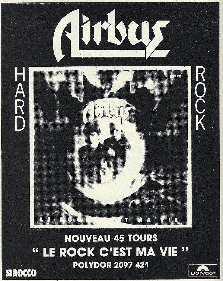 Retour en arrière avec AIRBUS Le rock c'est ma vie (1982) Hard-Rock Nantes  Numzor28