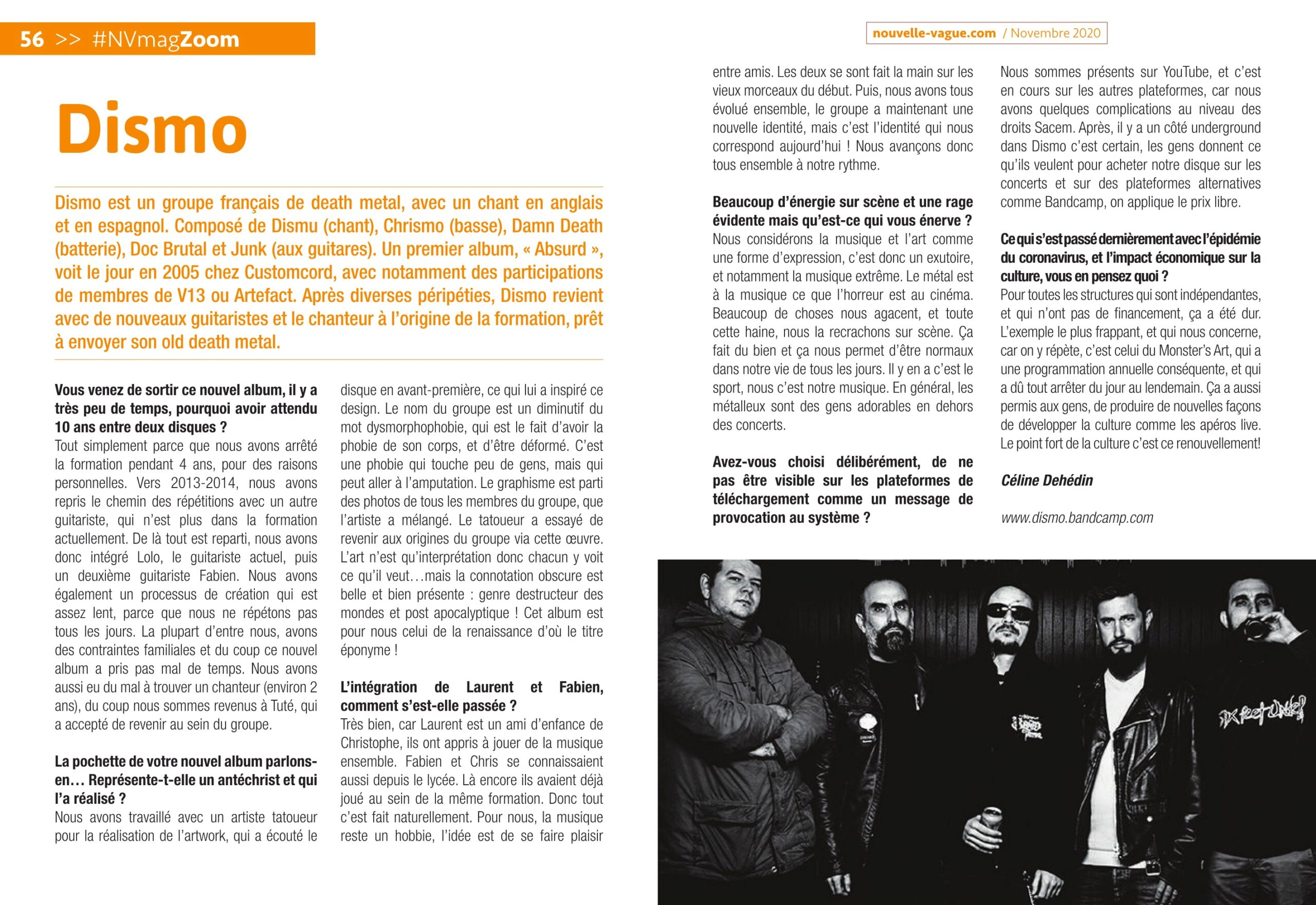 DISMO de Fréjus (Death Metal) Interview sur Nouvelle Vague Novembre 2020 Nv-26210