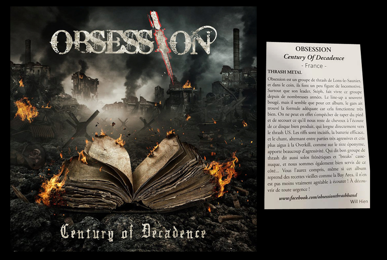 OBSESSION Century of Decacence (2017) Thrash Lons le Saunier Obsess10