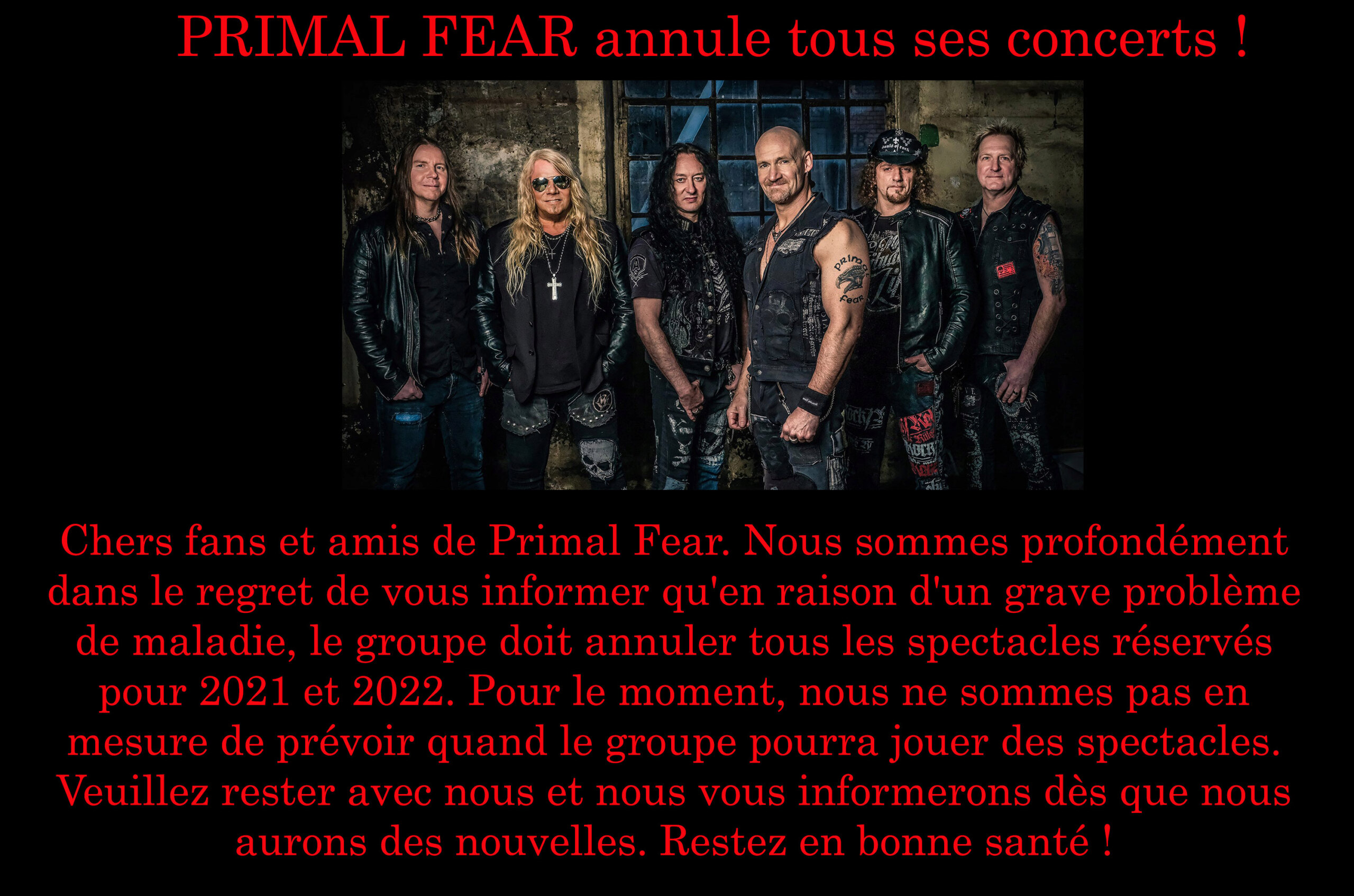PRIMAL FEAR I Will Be Gone (2021) Heavy Metal Allemagne Primal12