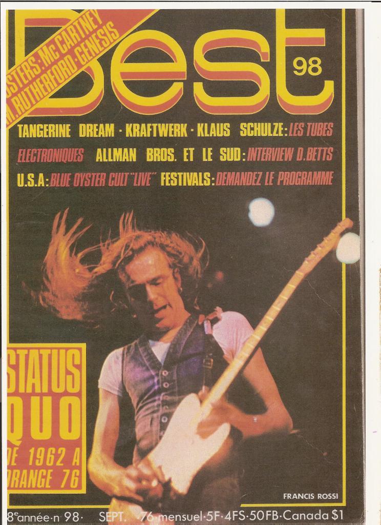 STATUS QUO dans BEST 98 Septembre 76 (archive) Quo_1-10